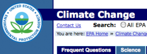 EPA and Climate Change
